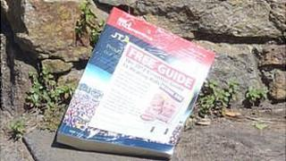 JT Channel Islands phone book left in a driveway