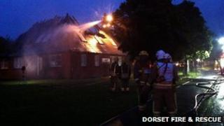 Firefighters at Culliford Crescent in Poole