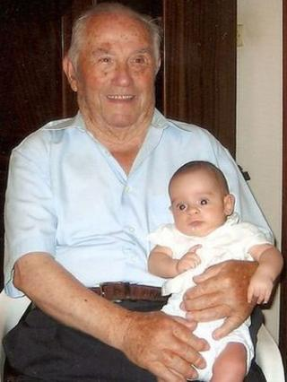 Centenarian and newborn