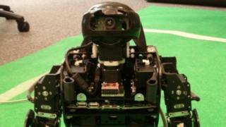 Plymouth University's humanoid ninja-style robot. Pic: Phil Culverhouse, University of Plymouth