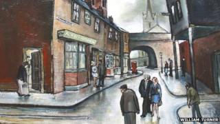 Coronation Street Set by William Turner (detail)