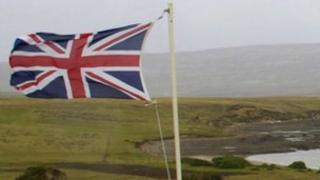 British cemetery at San Carlos, East Falkland