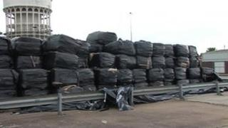 Waste on Goole docks