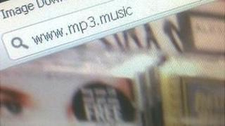 Screenshot showing potential .music top-level domain name