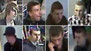 CCTV images of disorder suspects