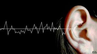 Sound waves and an ear