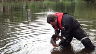 Fish returned to Madeley Pool