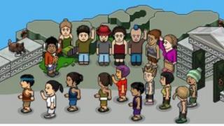 Screen shot of Habbo Hotel avatars