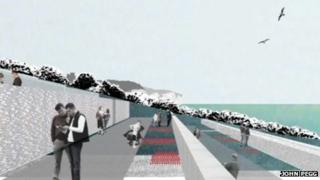 Artist's impression of the national memorial