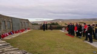Memorial service at San Carlos cemetery