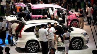 Consumers looking at cars in Indonesia