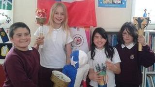 Luther Kenly, 10; Isla Wester, 10; Lizzie Kenly, 9 and Alina Loretti, 11