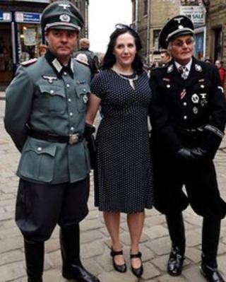 Nazi uniforms at the 1940s event