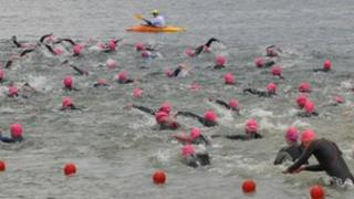 Swimmers at the Great East Swim 2011