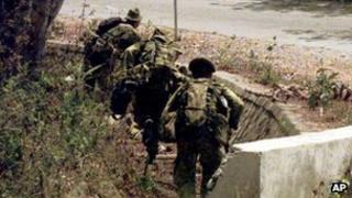 File photo of Australian troops in East Timor