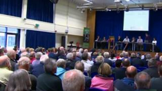 Up to 300 people attended the meeting