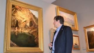 Dr Jason Monaghan in the Rona Cole Art Gallery