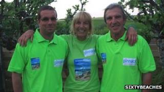 Sue Robins with son, Sam and husband, Pete