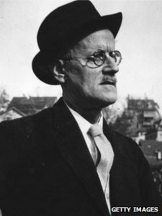 James Joyce picture in Zurich in 1938