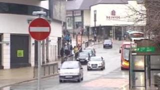 View of Bangor city centre