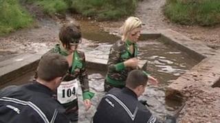 Royal Marines endurance course in Devon