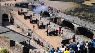 Queen's birthday salute, Guernsey, 16 June 2012