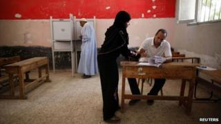 Polling station in Cairo (17/06/12)