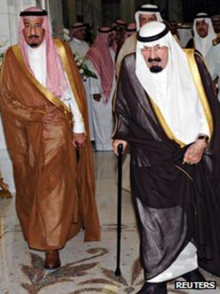 King Abdullah and Prince Salman arrive in Mecca, 17 June