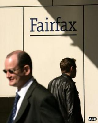 File image of Fairfax sign in Australia, pictured on 31 July 2007