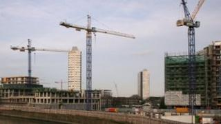 Housing construction in East London