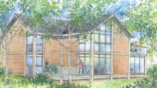 Artist's impression of one of the lodges contained within the application
