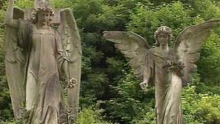 Angel statues at Arnos Vale cemetery