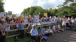 Protest against Vivary Wedge development