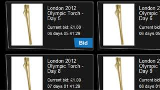 Torches for sale on the London 2012 website