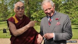 Dalai Lama and Prince Charles