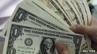US dollar banknotes