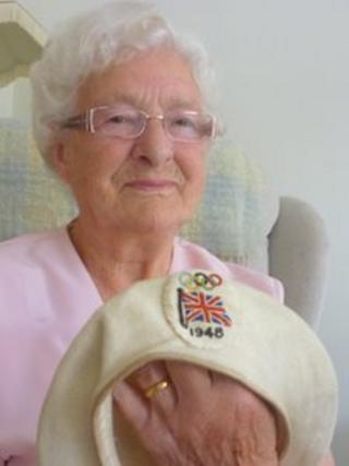 Gladys Pentland with her beret