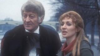 Caroline John with Jon Pertwee in a 1970 episode of Doctor Who