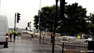 Shedded load [Pic: Jamie Carter]