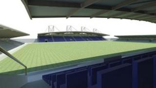 Artist impression of the new stadium