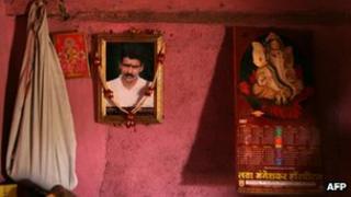 File photo of the portrait of a farmer who killed himself in Maharashtra