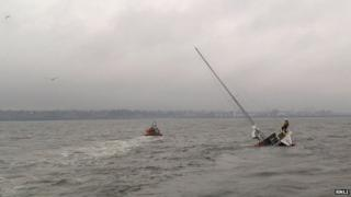 Yacht sinking