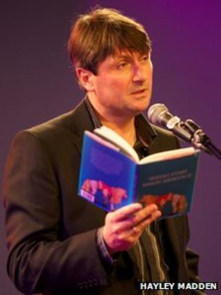 Simon Armitage reads at National Poetry Day 2010 (Photo by Hayley Madden)