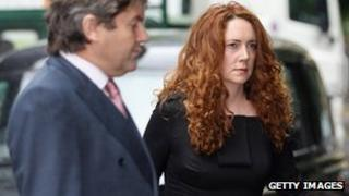 Rebekah Brooks and her husband Charlie are at Southwark Crown Court