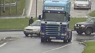 The incident happened on the Camlough Road near Newry