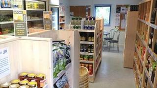 Inside the Village Shop @ Alfrick, image by Alan Soper