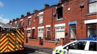 Bolton fire scene