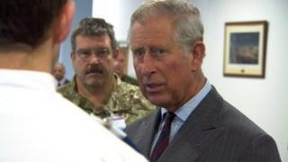 Prince Charles meeting NHS staff
