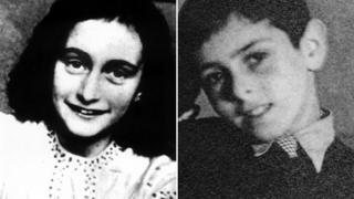 Anne Frank and cousin Buddy Elias