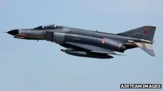 Turkish F-4 Phantom jet (file)